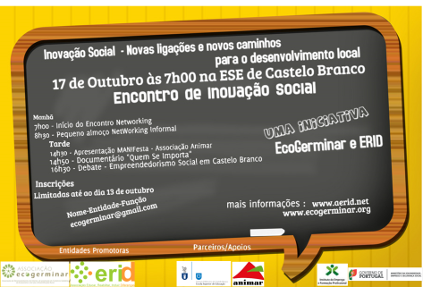 Cartaz - Encontro Inovação Social ESE