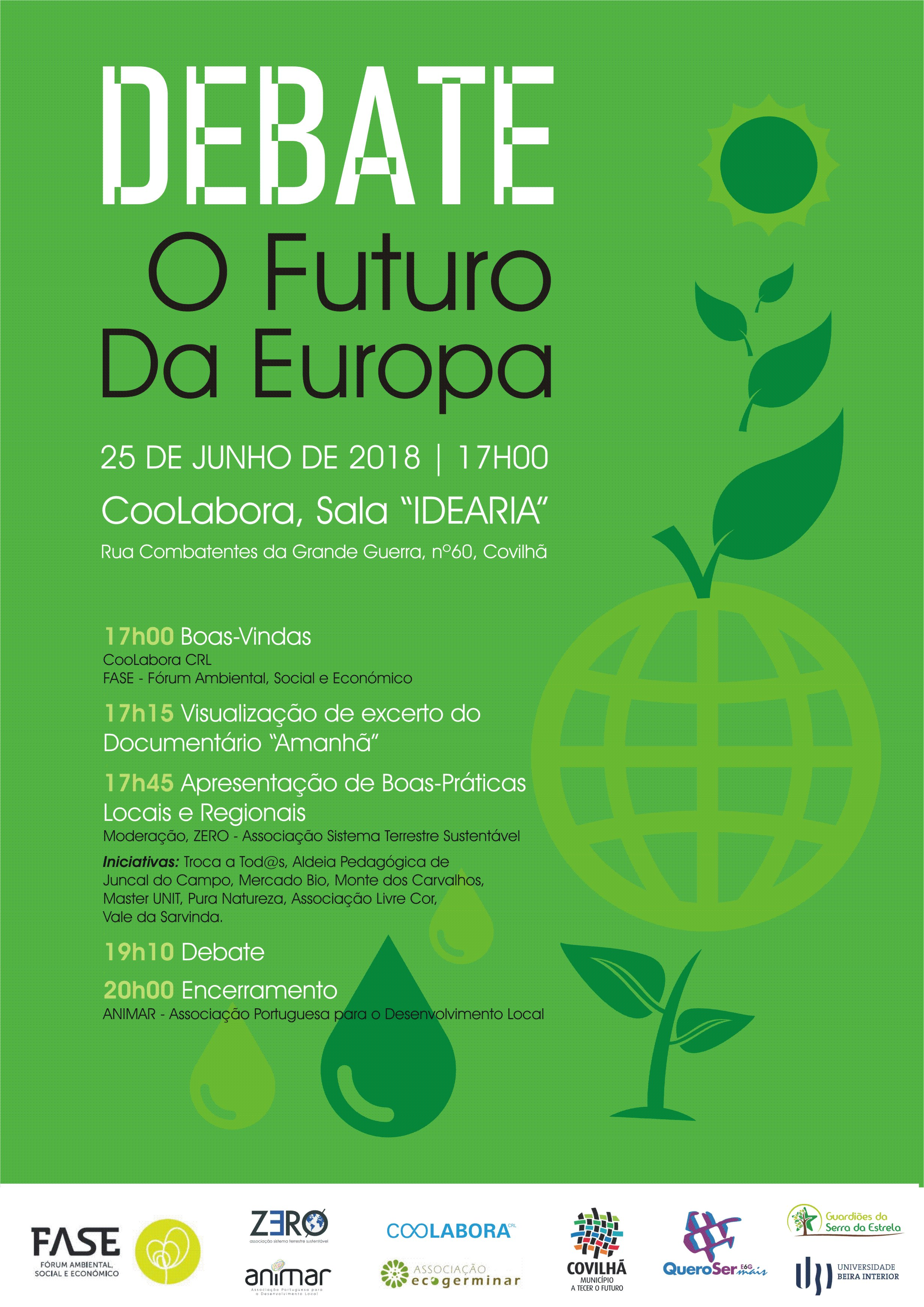 Cartaz Debate Futuro Europa